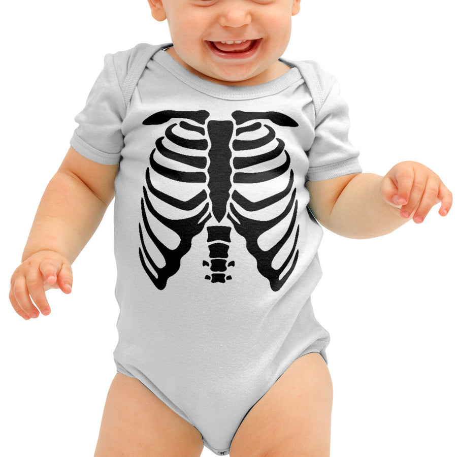 Skeleton Body Babygrow Romper Suit Baby Clothing Halloween Outfit Mummys B41
