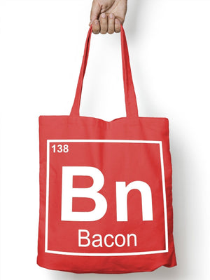 BN Bacon Periodic Table Nerd Funny Tote Bag For Life Shopper Geek Shopping E50
