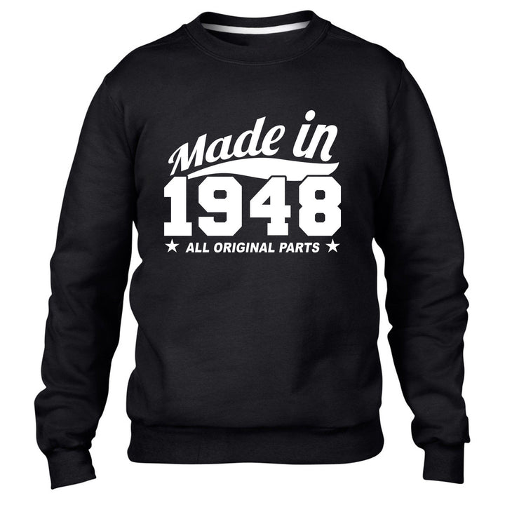 MADE IN 1948 ALL ORIGINAL PARTS SWEATER MENS WOMENS BIRTHDAY PRESENT COOL GIFT