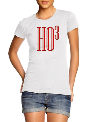 LADIES WOMENS Ho 3 Cubed T SHIRT Funny Maths Teacher Christmas Squared Festive