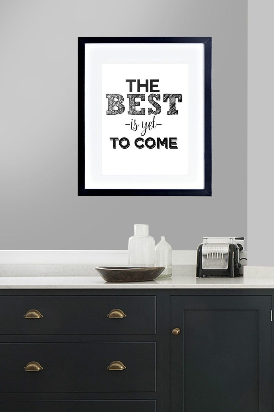The best Is Yet to Come Motivation Poster Print Family Framed Mounted Gift 249