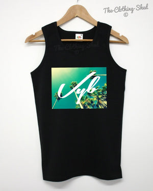 Vyb Palm Trees Vest Summer Beach Palm Tropical Vibe Dope Swag Hipster Man Woman