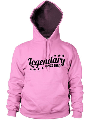 Legendary Since 1980 Hoodie Birthday Gift 36 37 old Present Men Women Legend