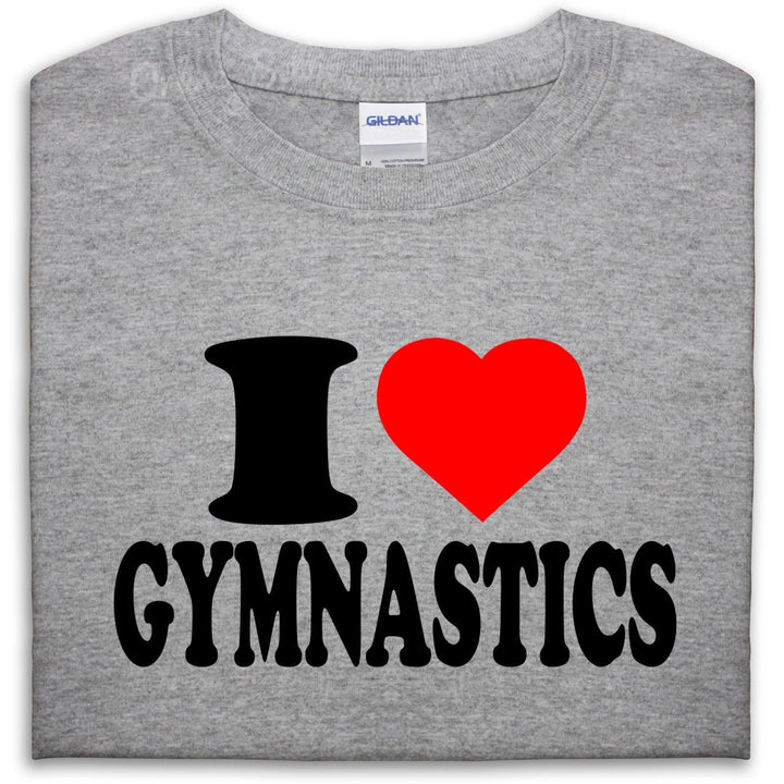 I LOVE HEART GYMNASTICS T SHIRT TOP HOBBIE PRESENT GIFT MEN GIRL WOMEN BOY, Main Colour Sport Grey