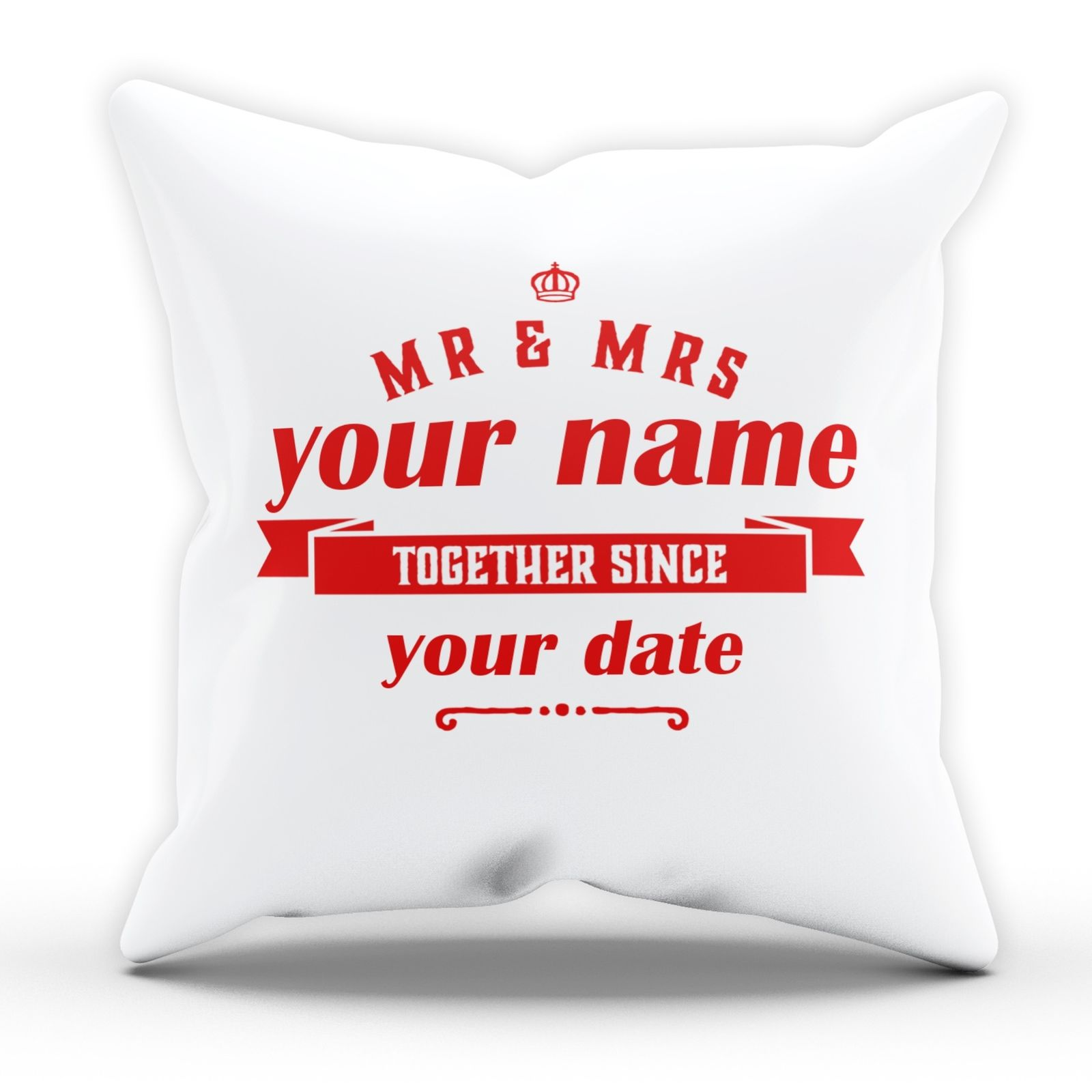Ace Fa personalised mr and mrs together since cushion valentines wedding gift  em179 - the clothing shed