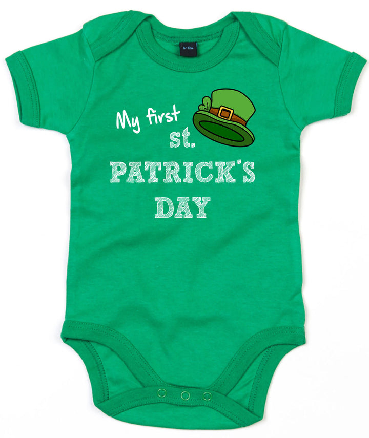My First St Patrick's Day Baby Outfit Grow Babygrow Leprechaun Cute Irish L191
