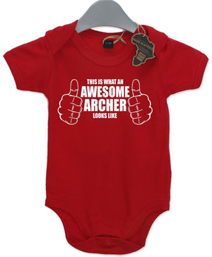 This Is Awesome Archer Looks Like Gift Baby Grow Birthday Present Unisex Play