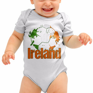 Ireland Football Shirt St Paddy Irish Baby Grow Romper Suit Babygrow Newborn B40