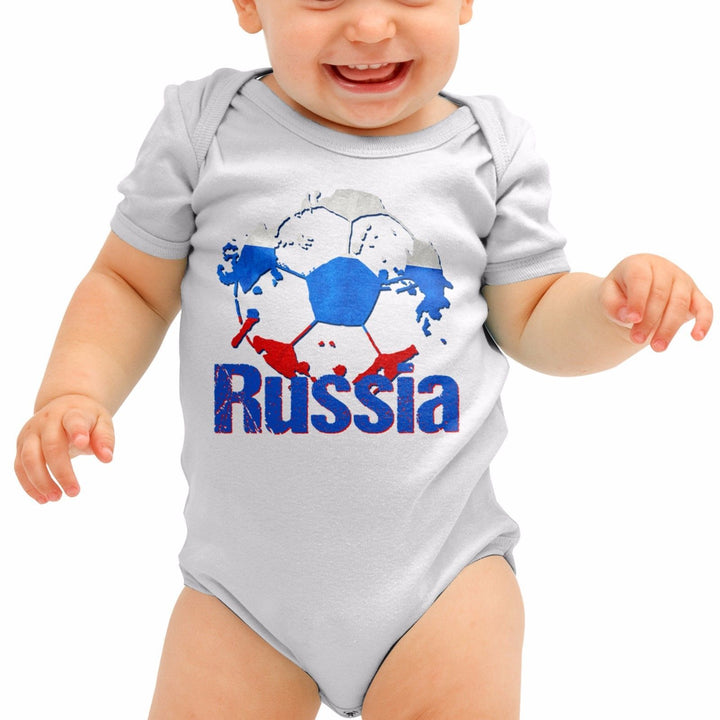 Russia Football Shirt Baby Grow Российский Eagle Romper Suit Babygrow Gift B40