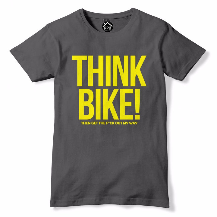 Think Bike Then Get out the Way Funny T Shirt Birthday Motorcycle Motorbike 740