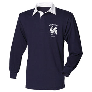 France 1872 Retro Rugby Shirt Jersey Top Mens 6 Nations 2017 Supporter French L6