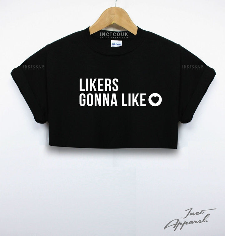 Likers Gonna Like  Crop Top Selfie Blogger Instagram Notes Haters Girl Women Sun