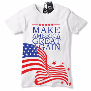 All Over USA Flag MAKE AMERICA GREAT AGAIN T Shirt Donald Trump Cap Hat US 470