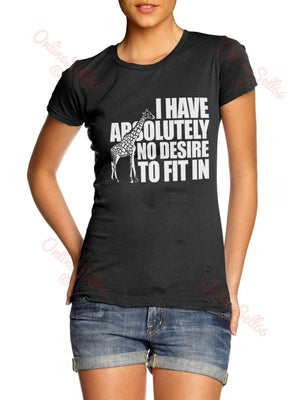 No Desire To Fit In Tshirt Mens Womens T Shirt Tee Cool Swag Hipster Indie Skate