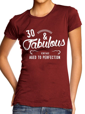 30 And Fabulous Fab T Shirt Top Birthday Present Xmas Girl Women Mum Mothers Day