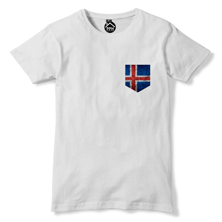 Vintage Print Pocket Iceland Tshirt Football Fans Vikings Nations T Shirt 299