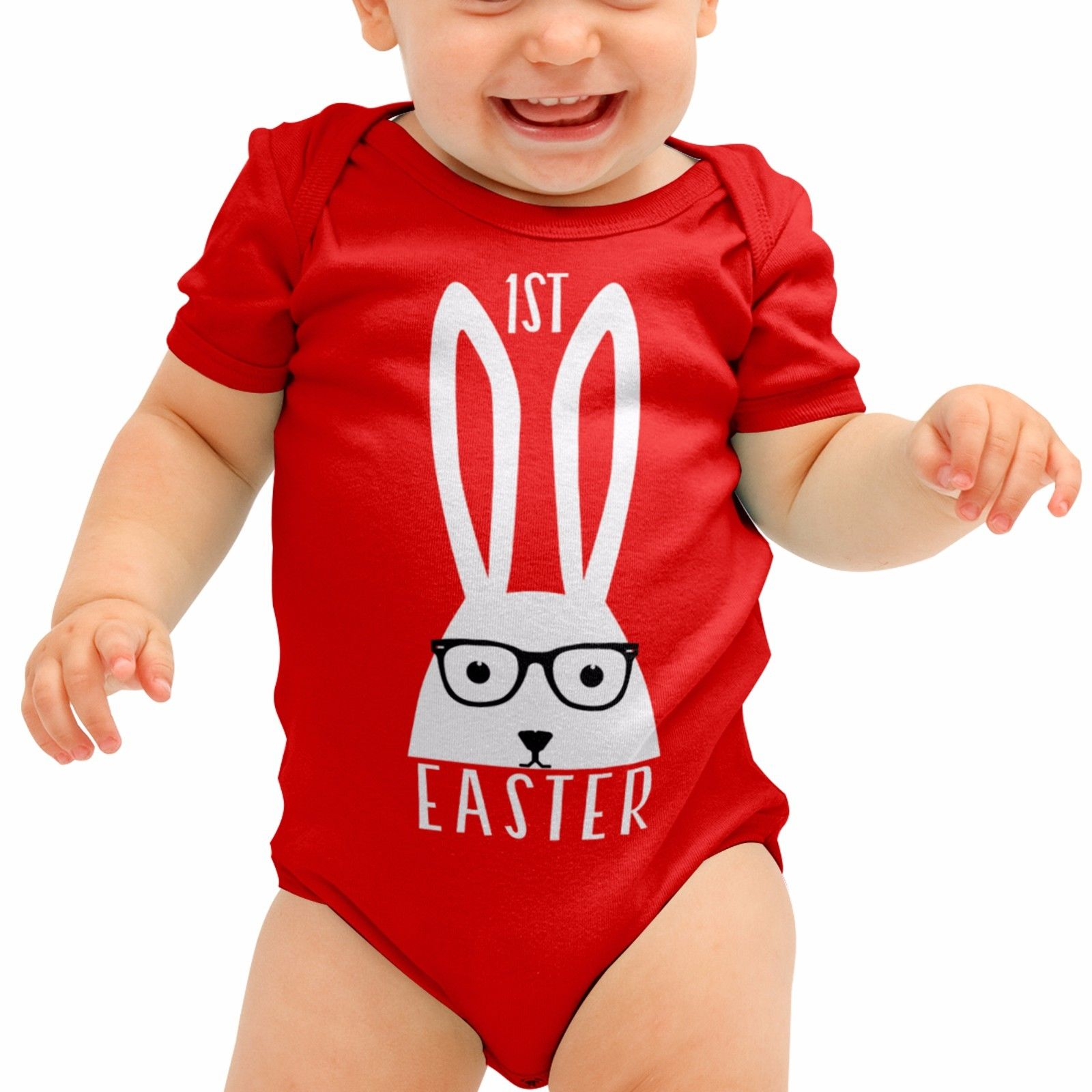 5929485b3316 1st Easter Bunny Egg Funny Cute Baby Grow Gift Babygrow Romper Body Suit  B31. Product image 1 ...