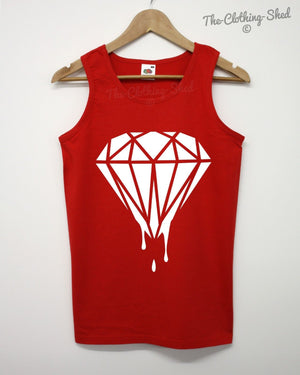 Dripping Diamond Vest Men Singlet Summer Dope Swag Hipster Clothing Women