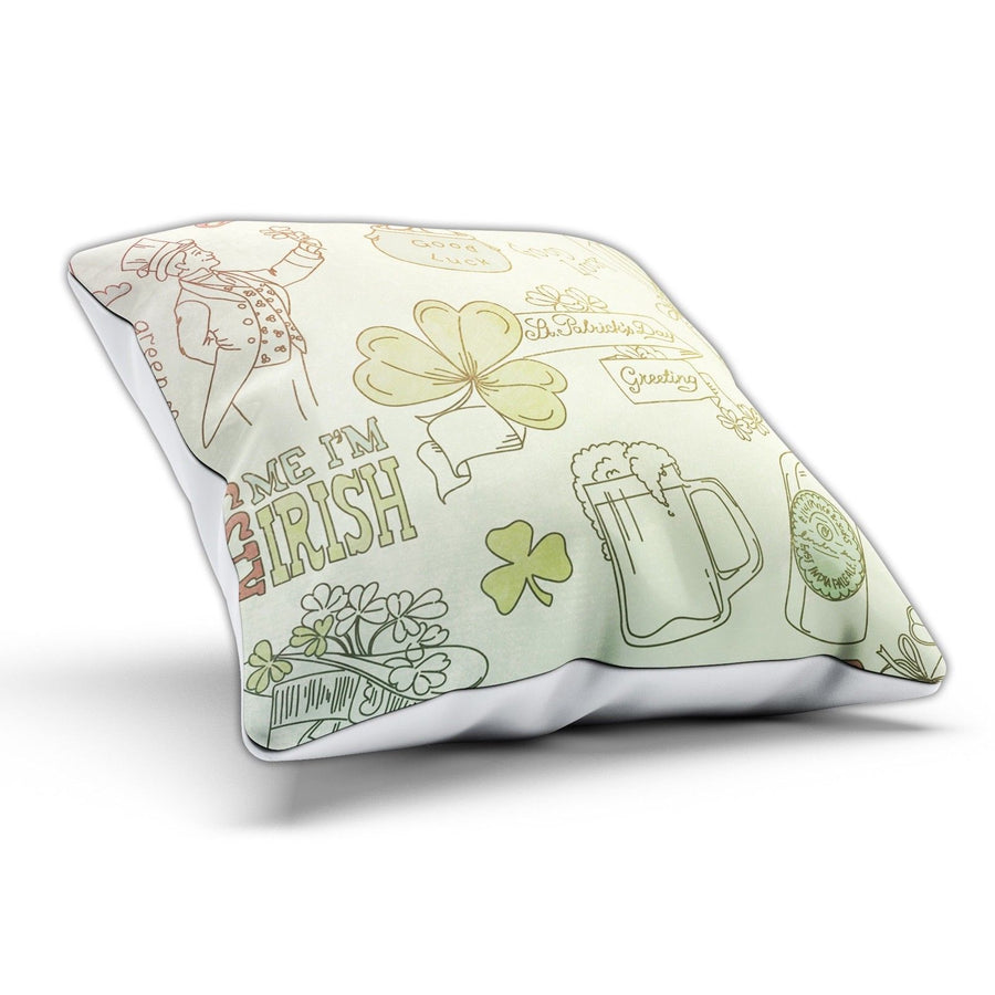 Irish Collage St Patricks Day Pillow Cushion Pad Cover Case Bed Home Ireland