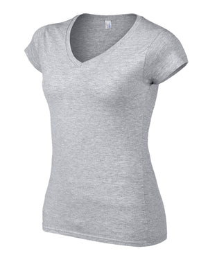 Gildan Ladies V Neck T Shirt Womens Top Tee Vest Wholesale All Sizes + Colours