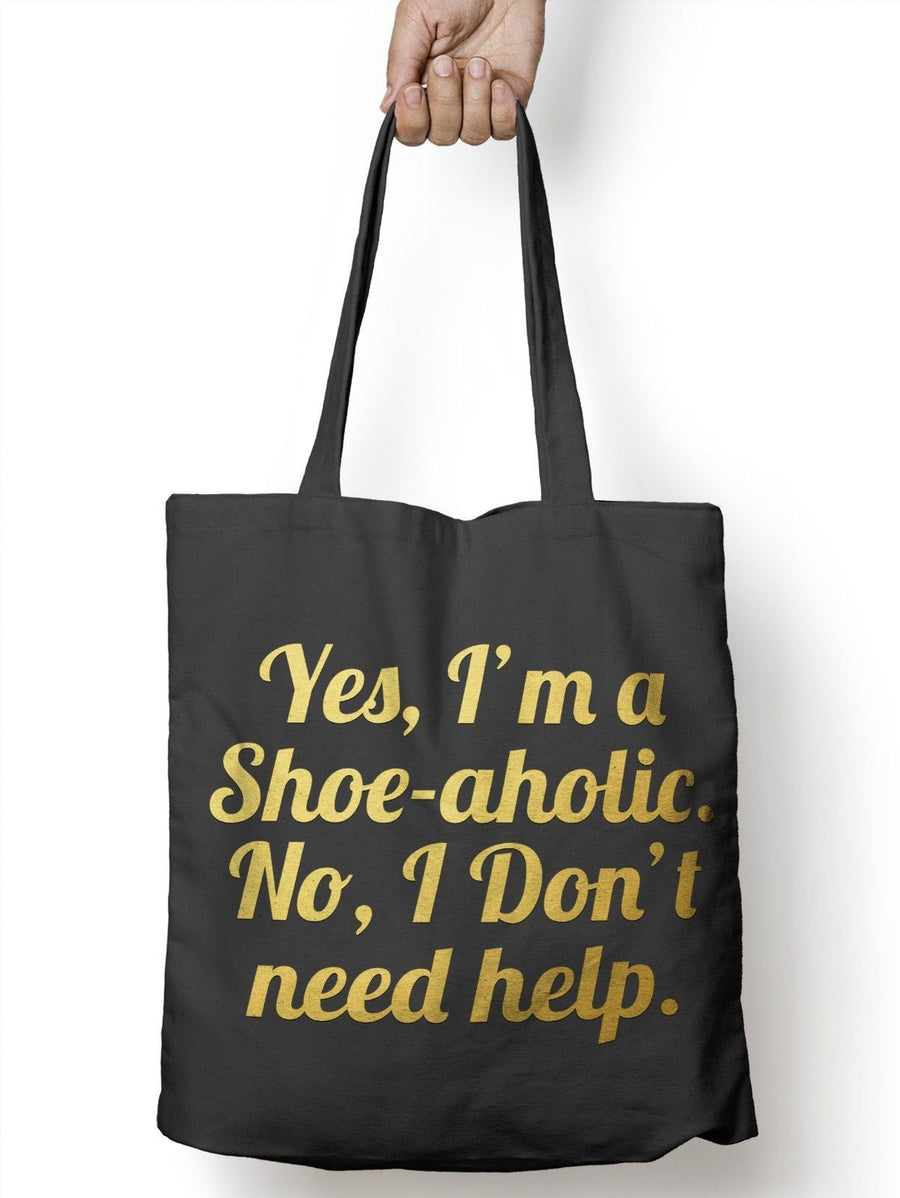 Yes im a Shoe Aholic Funny Shopper Tote Drink Womens Shopping Bag for Life E19