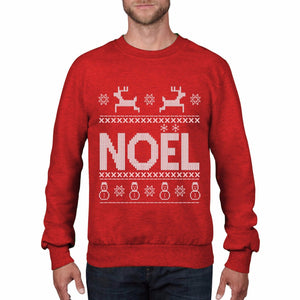 Noel Merry Christmas Jumper Fair Isle Mistletoe Top Snowflake Tee Sweatshirt CH8