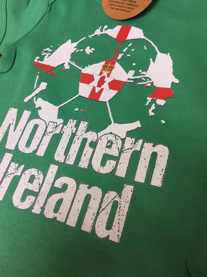 Northern Ireland Football Shirt Green Baby Grow Romper Suit Babygrow Body B40