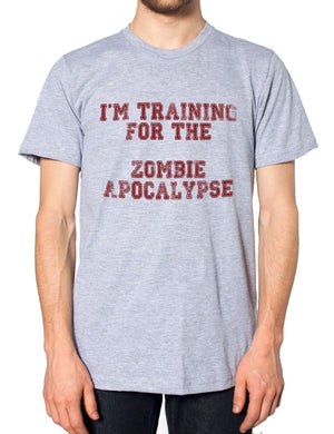 Im Training for the Zombie Apocalypse Funny Mens Hardest Part Mens Tshirt, Main Colour Black
