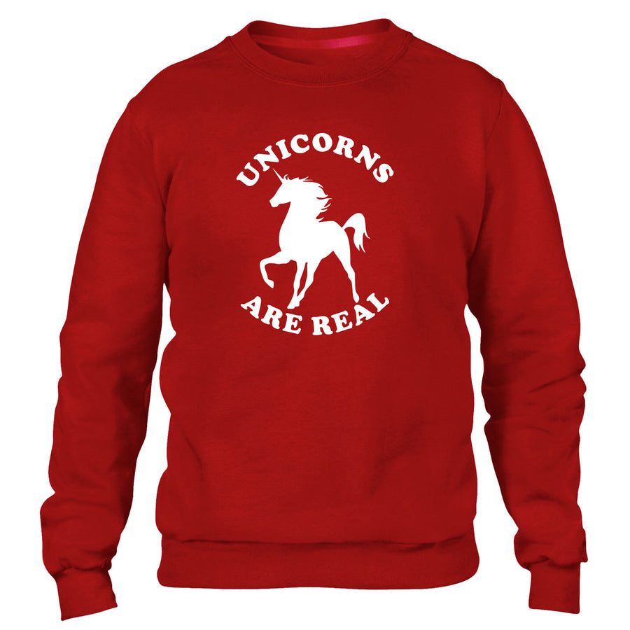 UNICORNS ARE REAL SWEATER JUMPER SWEATSHIRT MEN WOMEN KIDS FUNNY MAGICAL GIFT
