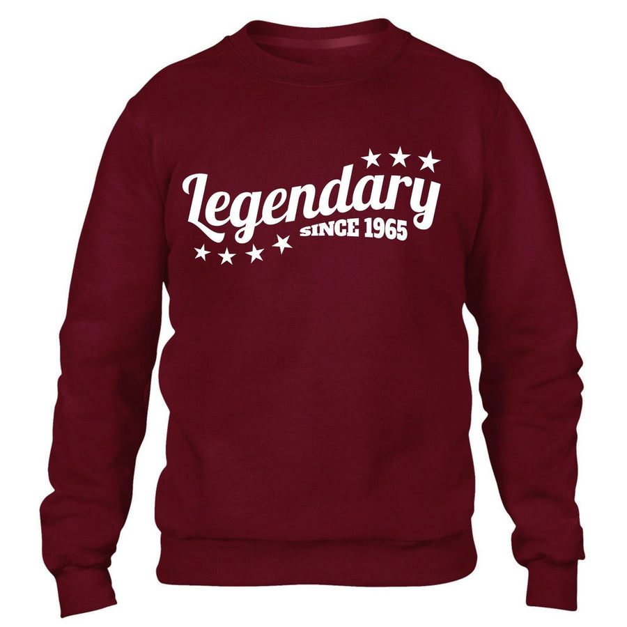 Legendary Since 1965 Sweatshirt Jumper Mens Womens Present Funny 51 52 Birthday