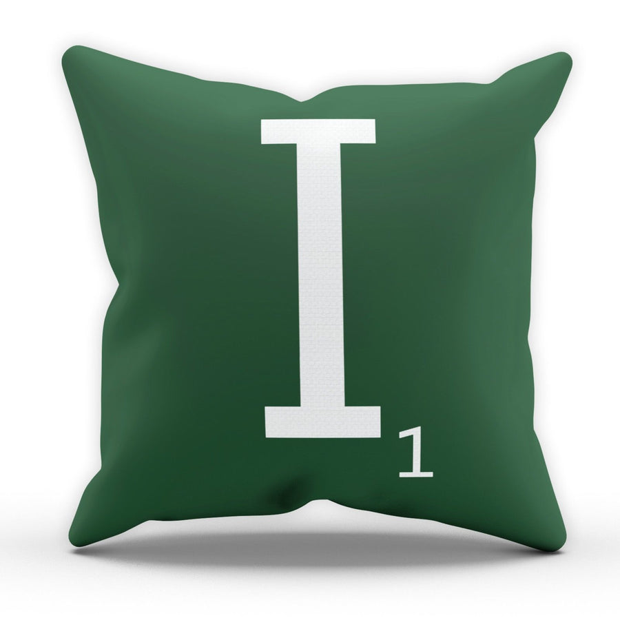 Letter I Scrabble Tile Game Pillow Cushion Pad Cover Case Bed Home Love Present