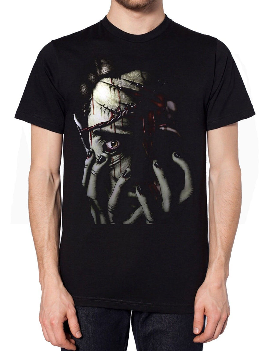 Dead Face Halloween T Shirt Funny Freaky Hell Death Murder Dress Up Party Fancy