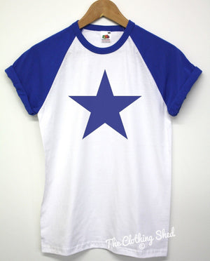 Star Baseball T Shirt Sport Swag Indie Fashion Royal Fashion Mens Womens S1