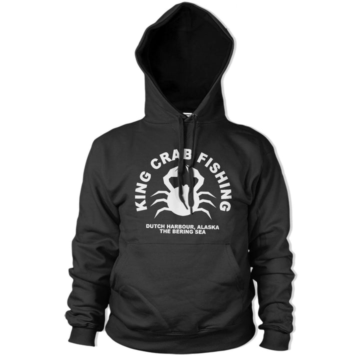King Crab Fishing Hoody Funny HOODIE Fish Sweatshirt Fisherman Angler Alaska PT9