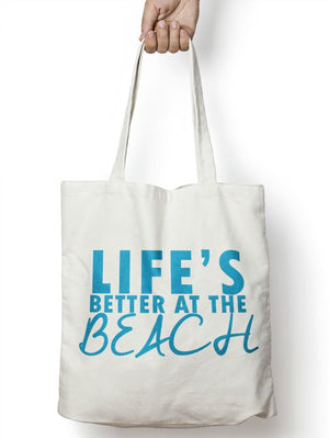 Life's Better At The Beach Shopping Tote Bag Sunny Shopping Holiday Summer M16