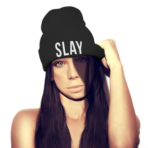 Slay Beanie Hat Womens Girls Winter Lemonade Yonce Hat Tour Music Geek Shop Top