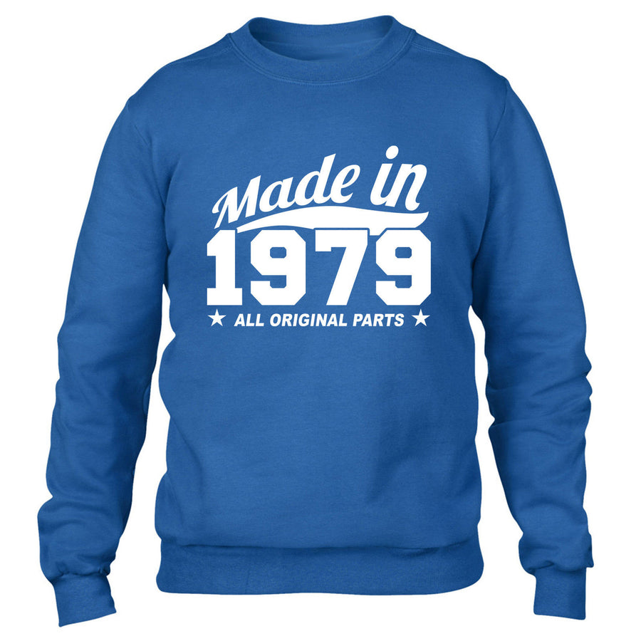 MADE IN 1979 ALL ORIGINAL PARTS SWEATER MENS WOMENS COOL PRESENT FUNNY GIFT