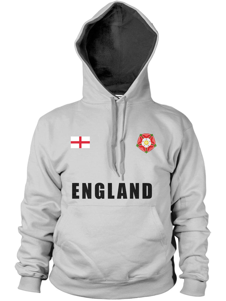 England St Georges Flag Badge Hoody Rose Rugby Hoodie Football 6 Nations World