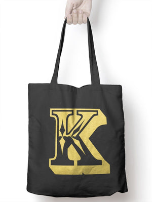 K Rose Letter Tote Bag Personalised Novelty Gift Womens Bag For Life Shopping