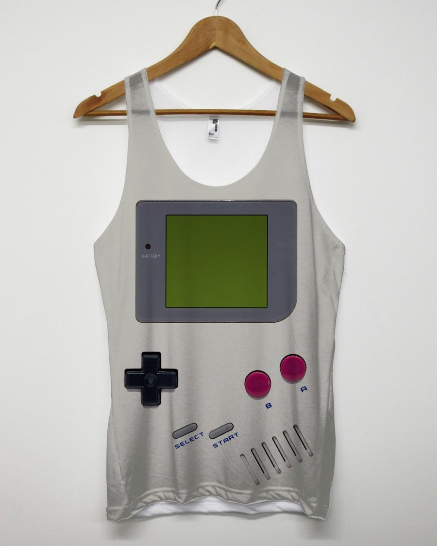 HAND HELD RETRO GAME BOY ALL OVER PRINT VEST FUNNY VINTAGES 90'S STYLE MEN WOMEN