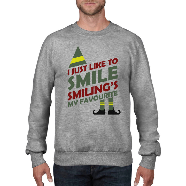 Smilings My Favourite thing Funny Christmas Jumper Elf Film Sweatshirt Gift CH26