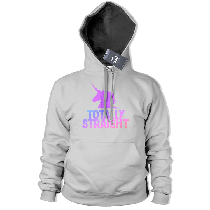 Totally Straight Funny Unicorn Hoodie Womens Camp Gay Lesbian Hoody girls 435
