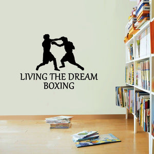 Boxing Living The Dream Boxer Box Fight Wall Sticker Vinyl Print Decal Art Wall