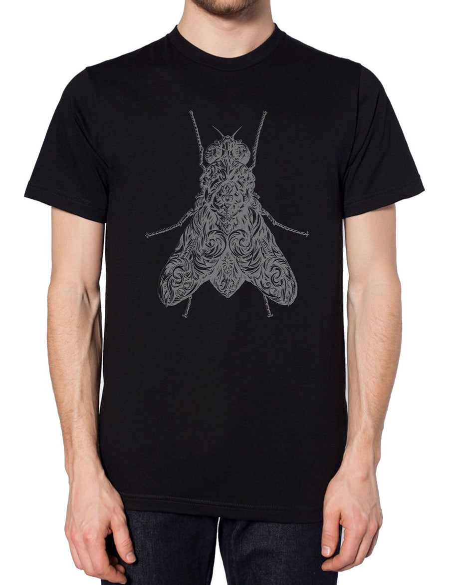 Fly Black T Shirt Fashion Aztec Insect Dark Style Fashion Grunge Rat Style Indie