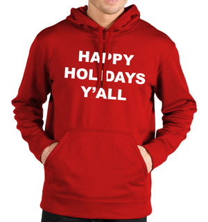 Happy Holidays Y'all Hoodie Slogan Thanks Giving Men Women USA Christmas Kid Top
