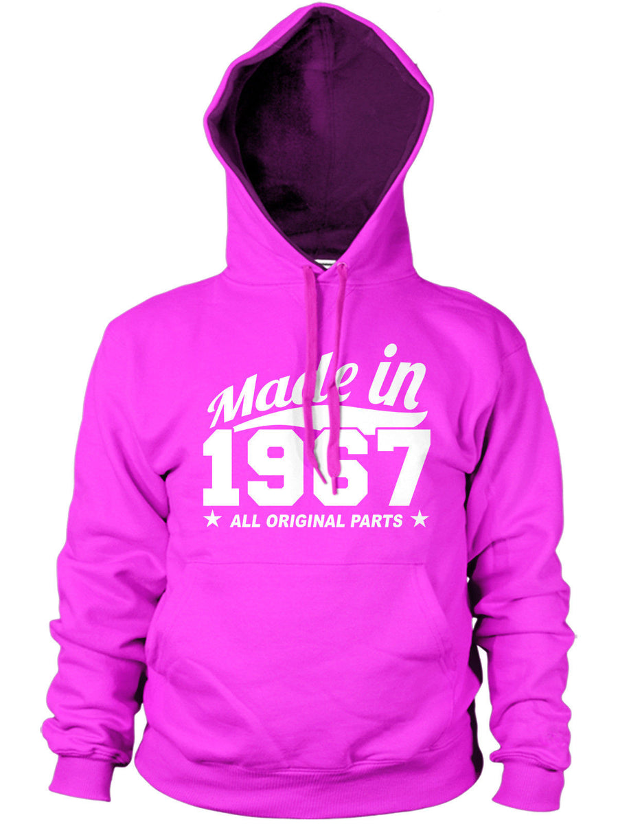 MADE IN 1967 ALL ORIGINAL PARTS HOODIE MENS WOMENS FUNNY PRESENT BIRTHDAY GIFT