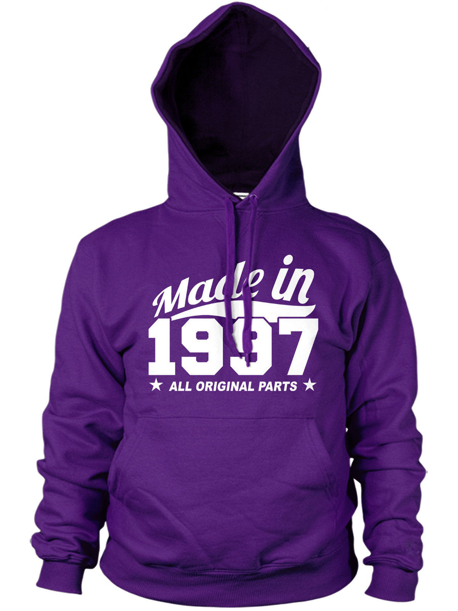 MADE IN 1997 ALL ORIGINAL PARTS HOODIE MENS WOMENS FUNNY BIRTHDAY FAMILY GIFT