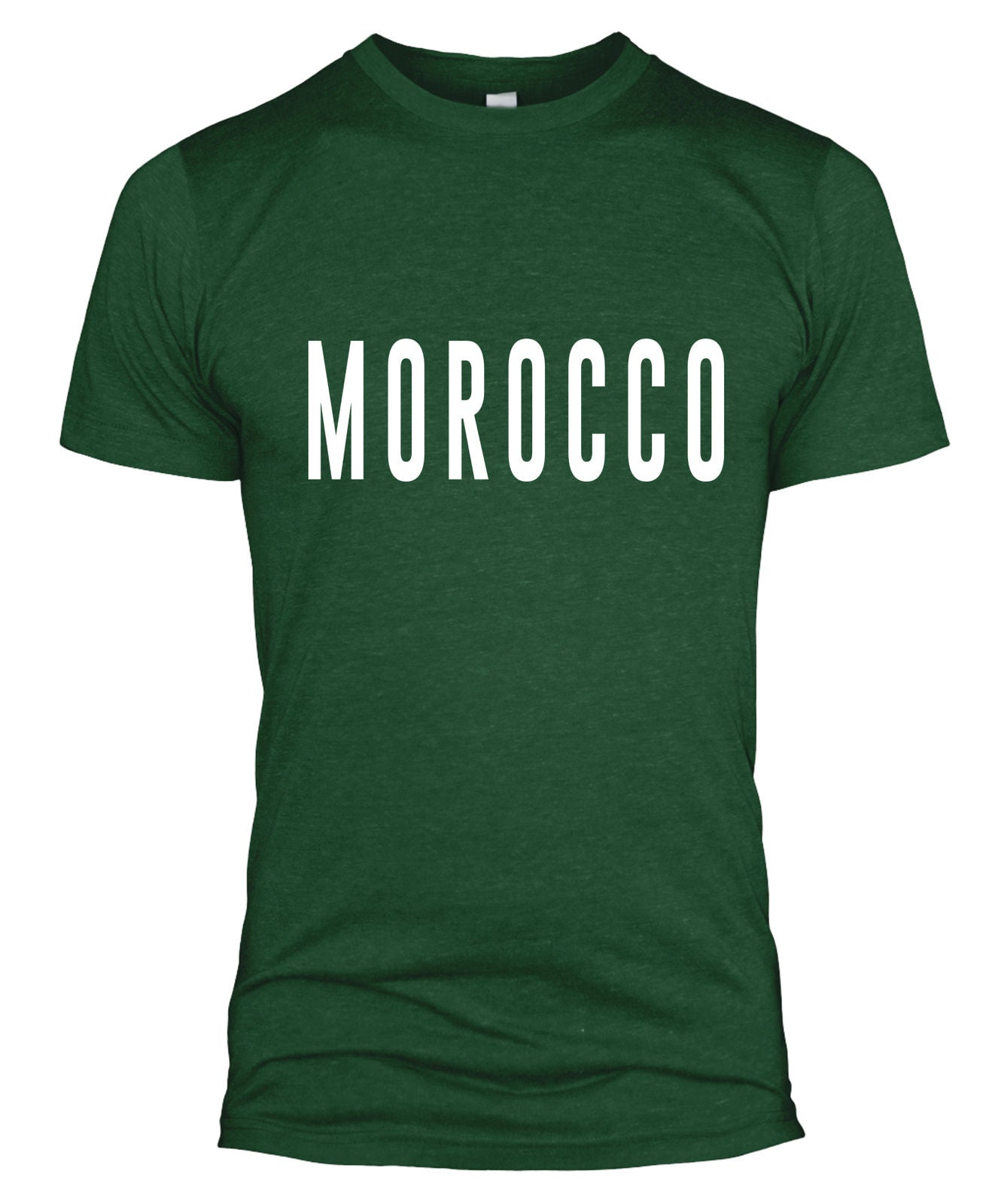 31a39095bf4 Morocco Text T Shirt Football Top Jersey World Cup Retro Supporter Men Lady  L254 - The Clothing Shed