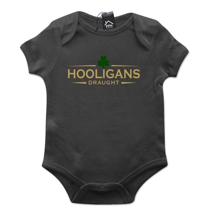 Hooligan Draught Irish Ireland St Patricks Day Baby Grow Gift Babygrow Suit P18