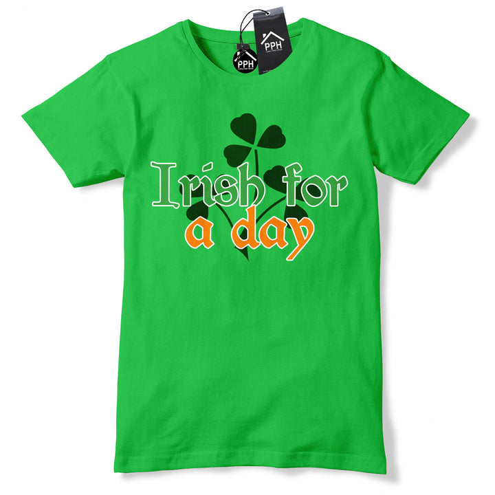 Irish for a Day Ireland Party Guinness Drunk Tshirt St Patricks Day T shirt P16